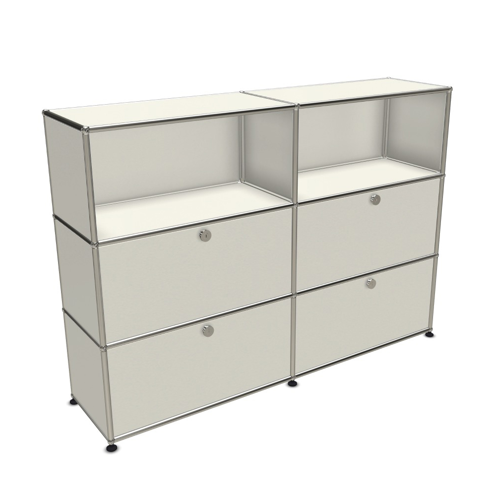 usm haller sideboard 4 klappt ren unten 2x3 ebenen pro office. Black Bedroom Furniture Sets. Home Design Ideas