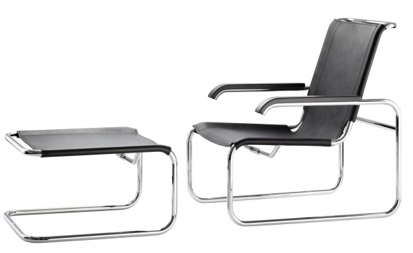 Thonet S 35 L Sessel und Hocker