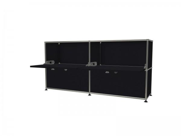 USM Haller Sideboard schwarz mit 4 Klapptüren