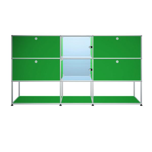 USM Haller Sideboard mit 4 Klapptüren und 2 Glastüren