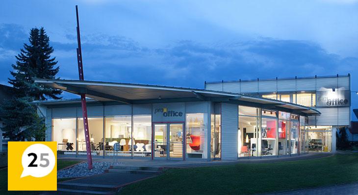 pro office mit 11 Einrichtungshäusern für Büromöbel und Wohnen in Deutschland vor Ort