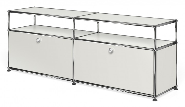 usm haller sideboard mit 2 klappt ren oben offen. Black Bedroom Furniture Sets. Home Design Ideas