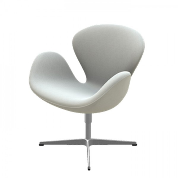 Fritz hansen der schwan divina melange swan chair sessel for Schwan sessel replica