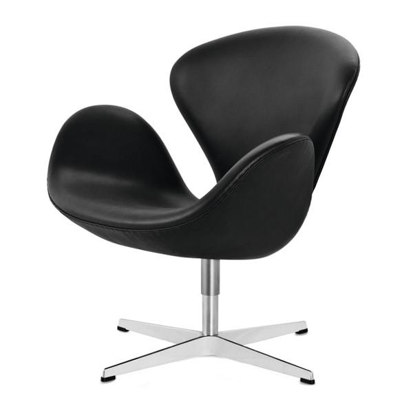 Der schwan swan chair sessel bezug leder von fritz hansen