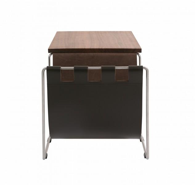 nl couch beistelltisch klein mit lederablage. Black Bedroom Furniture Sets. Home Design Ideas