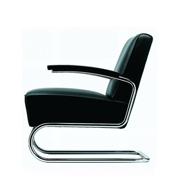 Thonet s 411 lounge sessel leder for Thonet stuhl schwarz