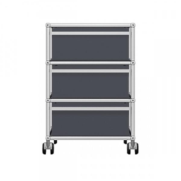 usm haller rollcontainer mit drei schubladen frei konfigurierbar fritz haller designer pro. Black Bedroom Furniture Sets. Home Design Ideas